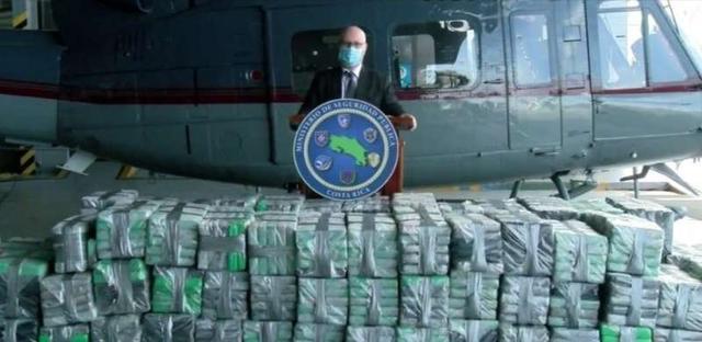 哥斯达黎加和洪都拉斯截获数吨可卡因