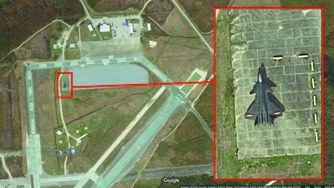 """一直强调保护知识产权的美国人在偷偷模仿歼-20外形造""""假歼-20""""图片"""