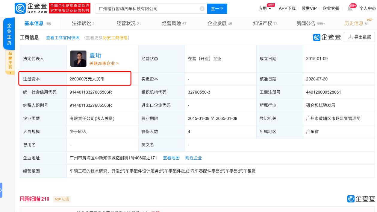 赢咖3小鹏汽车注册资本增加至赢咖328亿元图片