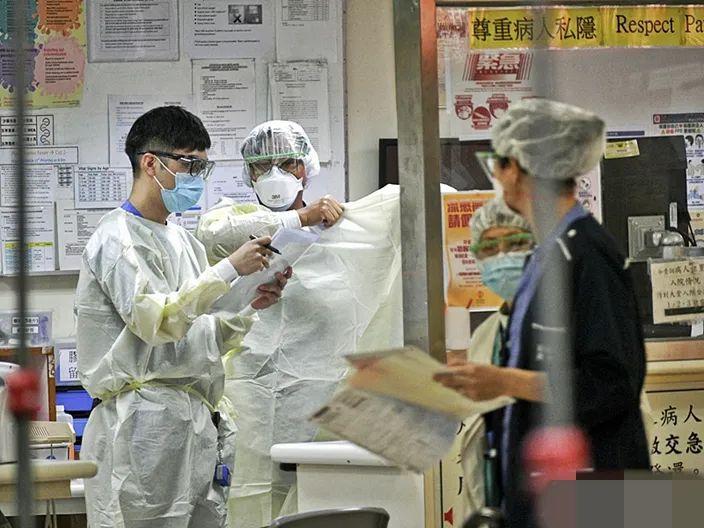 香港医护职员 图自港媒