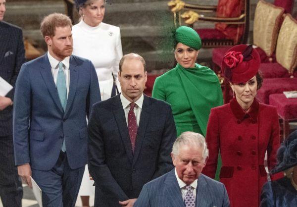 今年3月,威廉王子夫妇与哈里王子夫妇共同参加英联邦日纪念活动。(美联社)