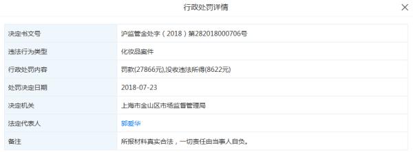 """上海五贝子化妆品有限公司""""借证生产""""、""""发布虚假广告""""被责令停产"""