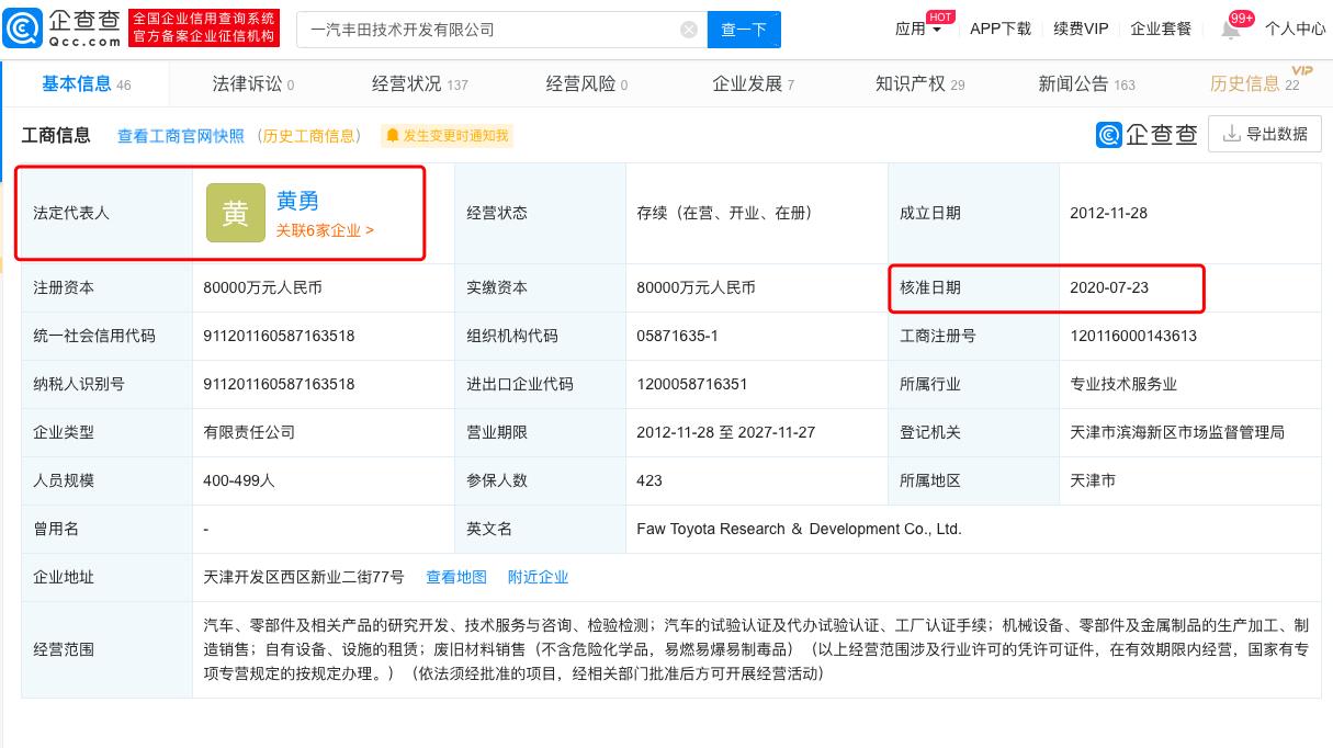 [杏悦]王刚卸任一汽丰田技术开发有杏悦限公图片