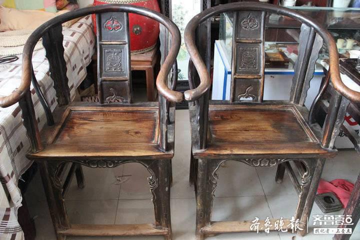 清代三节圈椅
