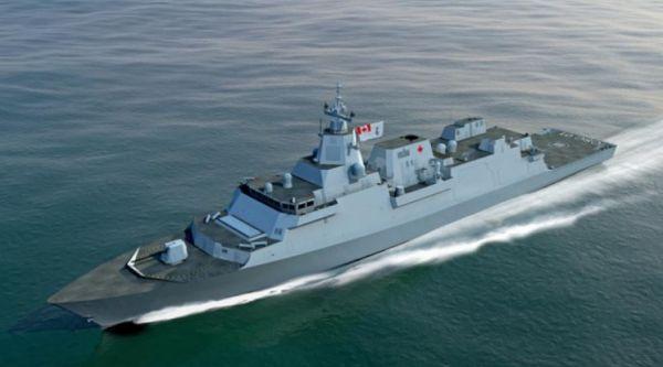 洛马公司为加拿大设计的未来战舰电脑效果图(美国雅虎新闻网站)