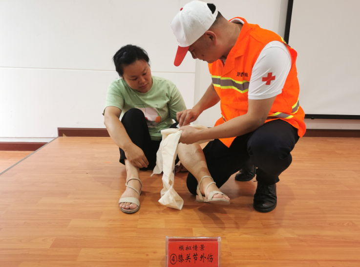衡阳南岳区开展环卫工人应急救护讲座及演练活动