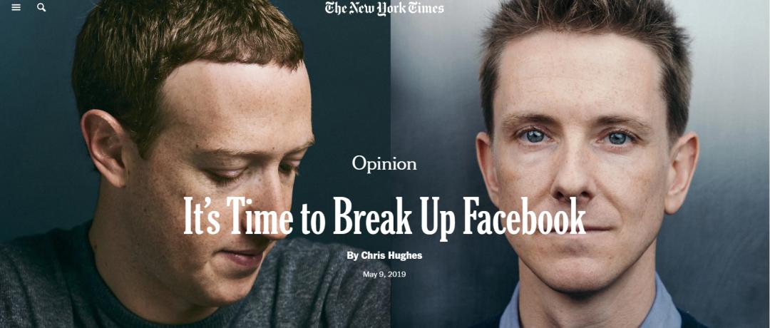"""《纽约时报》关于""""拆分Facebook""""的评论文章"""
