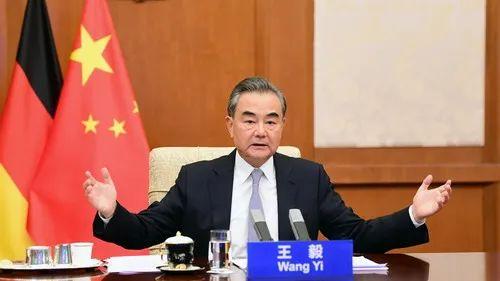 ▲7月24日,国务委员兼外长王毅同德国外长马斯举行视频会晤。