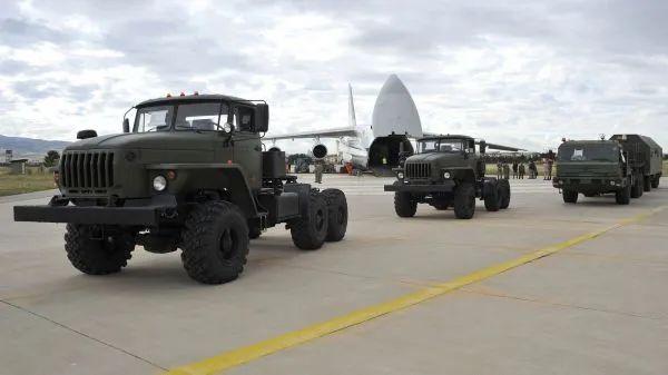 ▲资料图片:俄军安-124运输机将S-400配套设备运抵土耳其。(俄国防部官网)