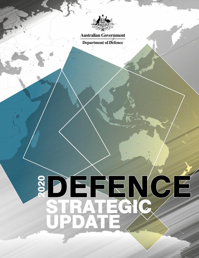 《2020新版国防战略》(2020 Defence Strategic Update)封面