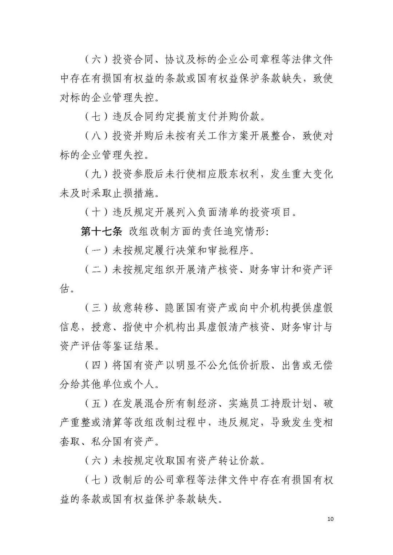 《山西省省属企业违规经营投资与重大决策终身责任追究实施办法》发布
