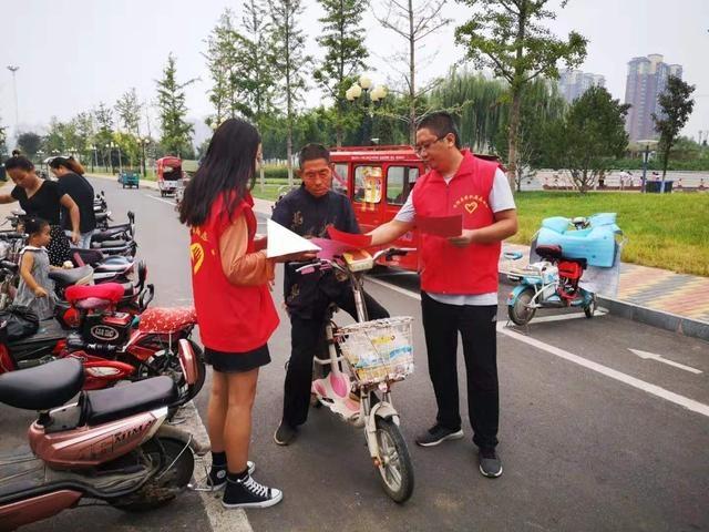 沈丘县水利局开展文明旅游宣传活动