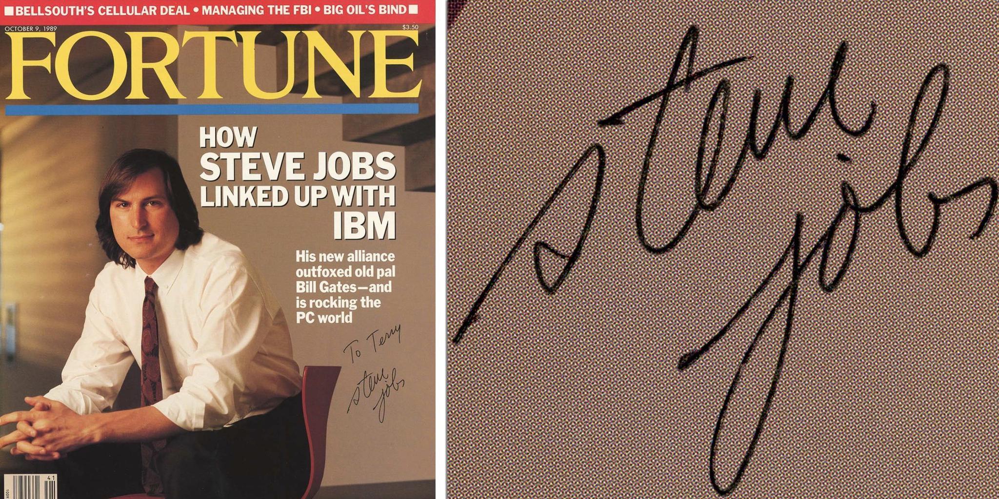 乔布斯签名版《财富》杂志1.1万美元起拍