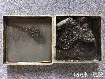 清代铜墨盒
