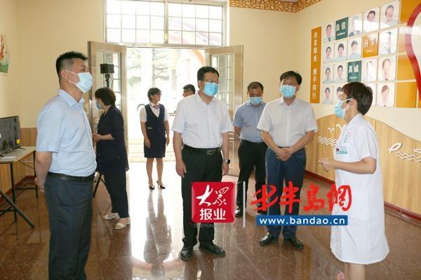 青州卫健局来胶州考察社会心理服务体系建设工作