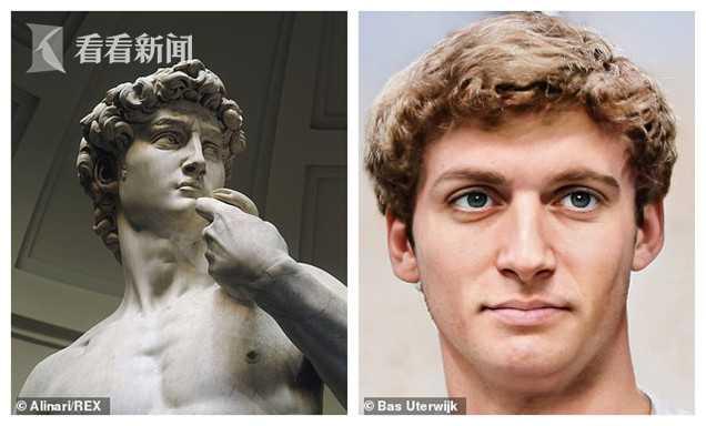 荷兰艺术家用人工智能合成名画雕塑中人物相貌
