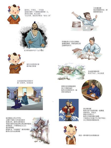 """漫绘盐城古代名人丨""""中流砥柱""""陆秀夫"""