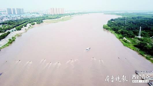 """洪峰""""走""""108公里仅用7小时,黄河河道行洪比往年快5小时"""