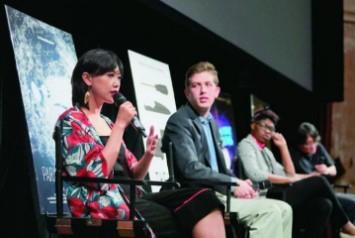 张姗姗在《天堂计划》美国首映式回答观众提问