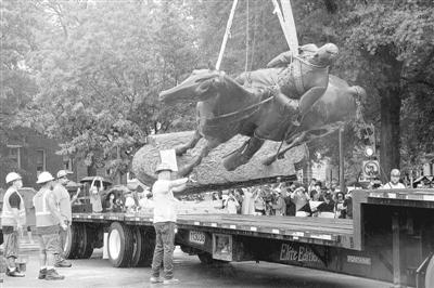 美国里士满市开始 移除当地邦联雕像