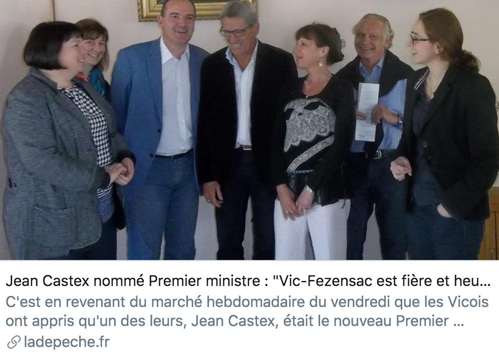 让·卡斯泰被提名为总理。/《快讯报》报道截图