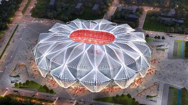 恒大足球场连接广州南站。