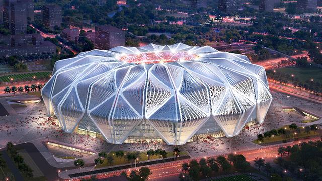 【高德平台】思的恒大足球场设计方案高德平台图片