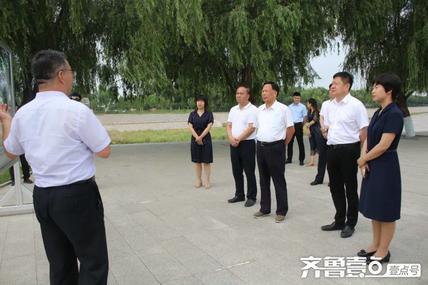 省委政研室(省委改革办)到打渔张引黄灌区调研重点水利工程情况