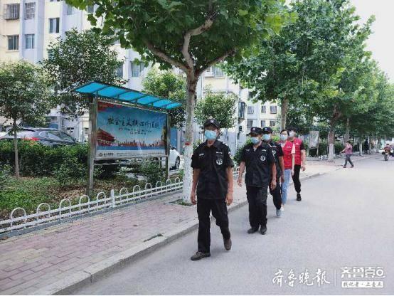 北集坡街道龙泉社区开展社会治安志愿服务活动