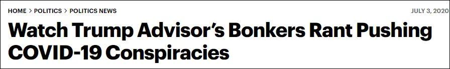 看看特朗普的照料猖獗宣扬新冠病毒诡计论 截图:《滚石》