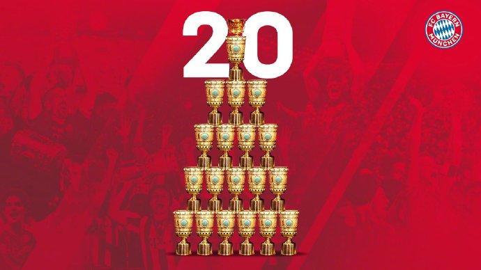 仁王!拜仁第20次夺德国杯冠军,第13次双冠王