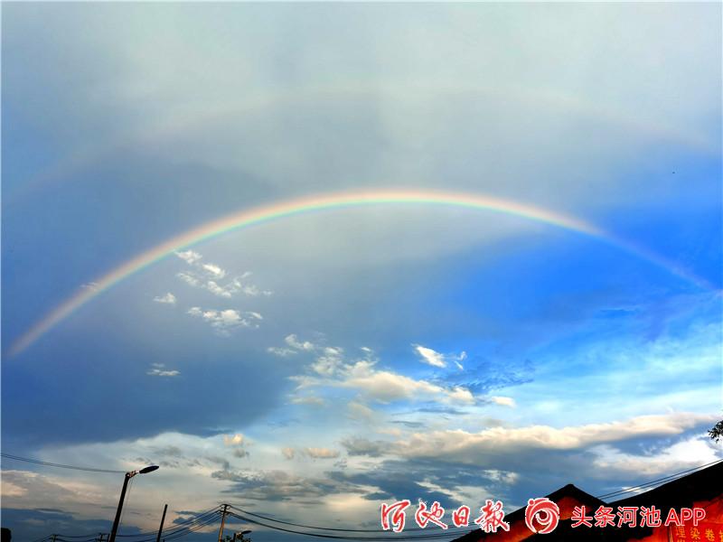 宜州雨后彩虹美翻了,附各角度美图!