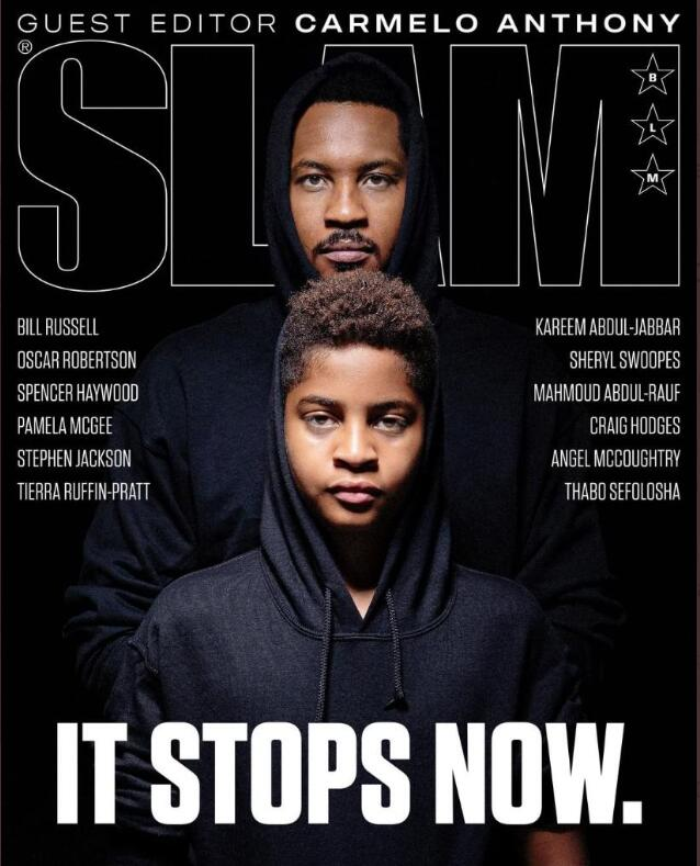 安东尼和儿子登《SLAM》封面,为反种族歧视发声