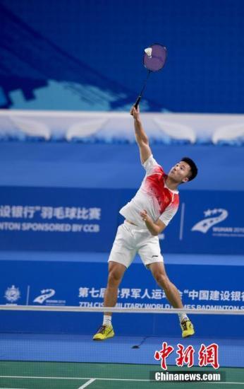 图为陆光祖在男子单打比赛中。中新社记者 安源 摄