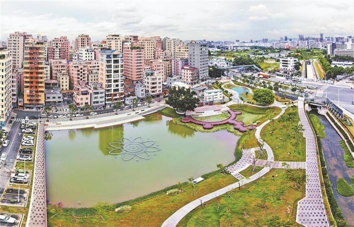 光明区城中村建成生态公园:玉龙湾公园已完工