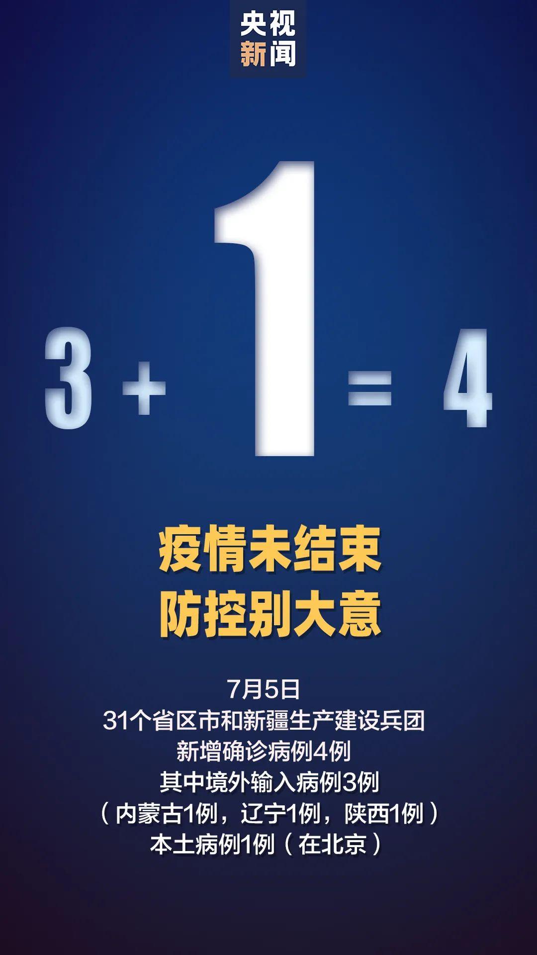 北京7月5日新增1例确诊病例!高风险地区仅剩1个图片