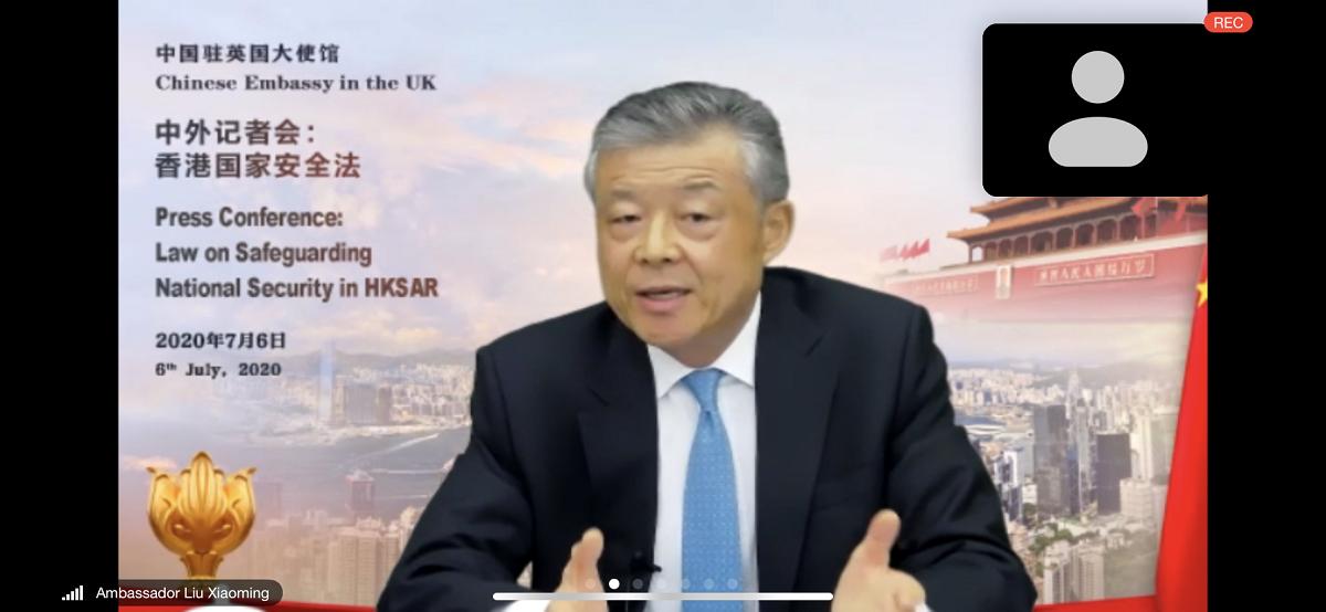 """中国驻英大使:香港国安法完全符合""""一国两制""""方针 并将保障""""一国两制""""行稳致远排行图片新闻"""