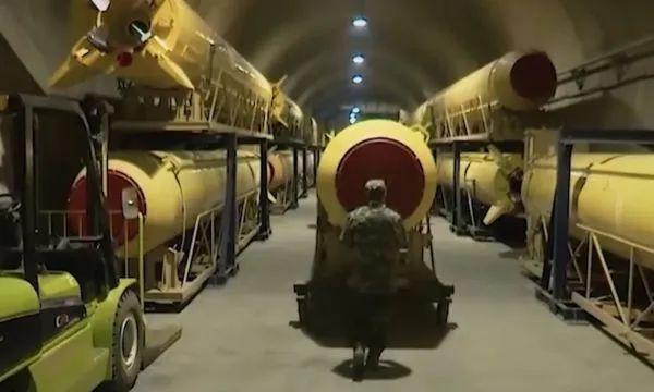"""▲资料图片:伊朗地下""""导弹城""""一景"""