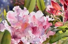 颜料在水的交融下绽放出一朵朵绚烂的花儿,真美!