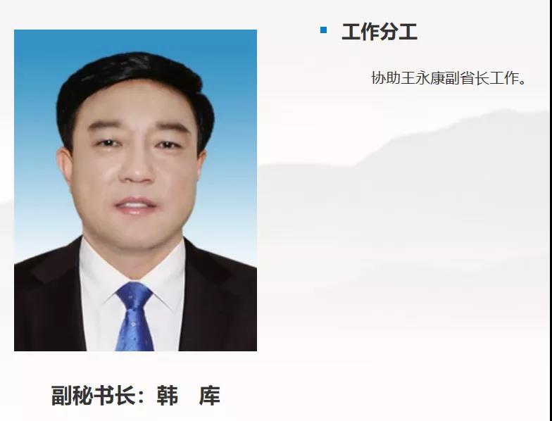 韩库已任黑龙江省政府副秘书长,协助王永康副省长工作