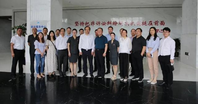 重庆市渝北区工商联到五华法院学习考察商会调解工作