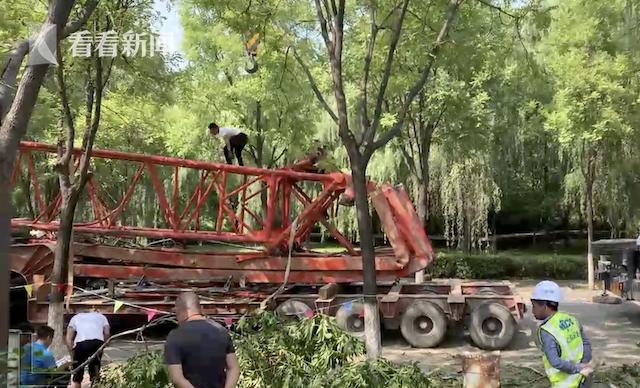 西安电子科技大学一塔吊倒塌 校方:无伤亡,暂无其它安全隐患
