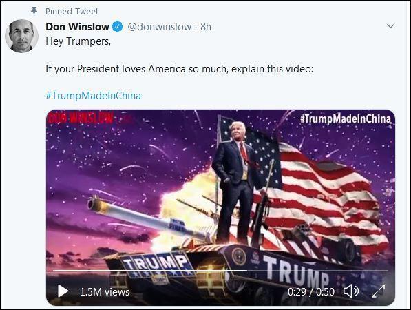"""""""特朗普中国制造""""冲上推特美国版热搜第一"""