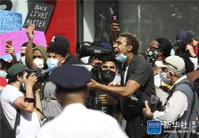 ▲资料图片:5月29日,在美国纽约,人们参加抗议活动。新华社记者 王迎 摄