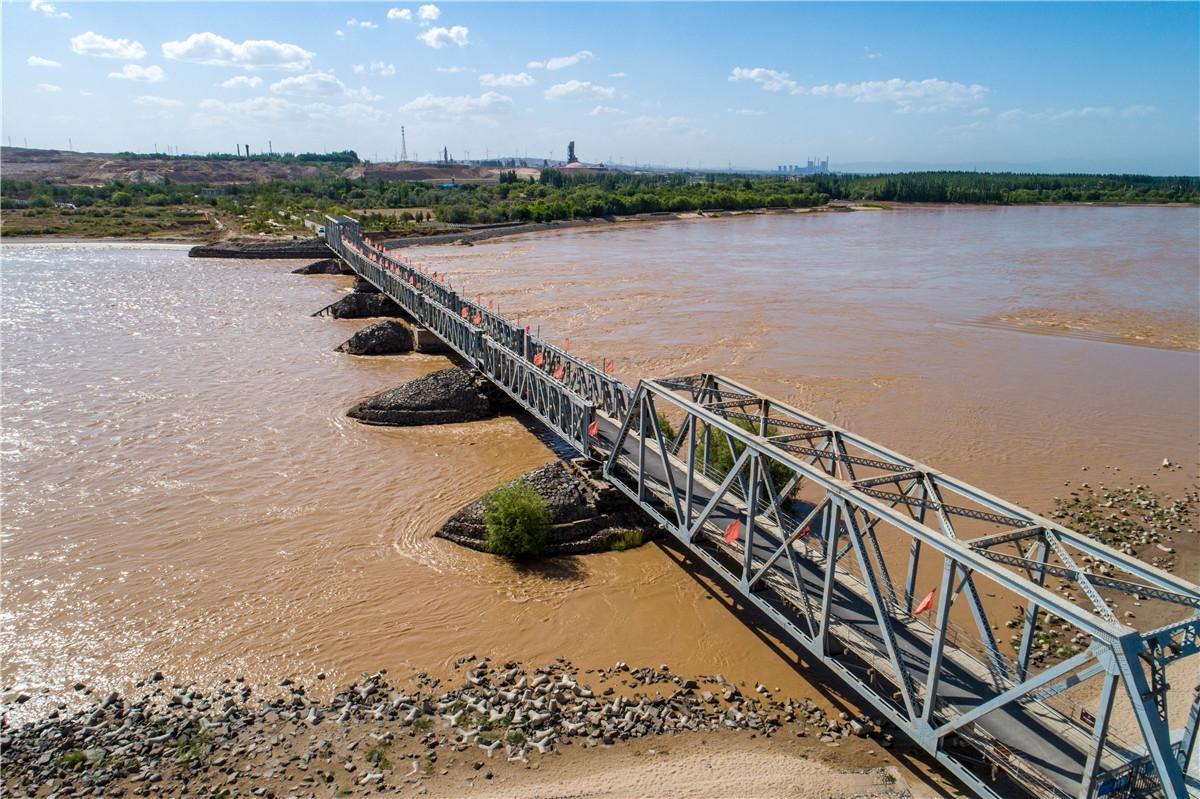 【黄河两岸是我家】高清大图:瞰宁夏黄河第一桥青铜峡黄河铁桥