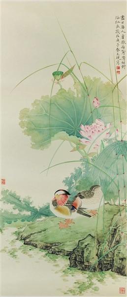 尽日无人看微雨(中国画)