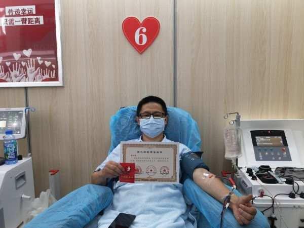 武汉一新冠康复者百余天里连续11次捐献血浆