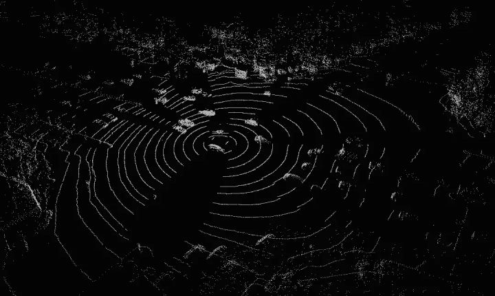 一个32线激光雷达的一帧数据的三维可视化图