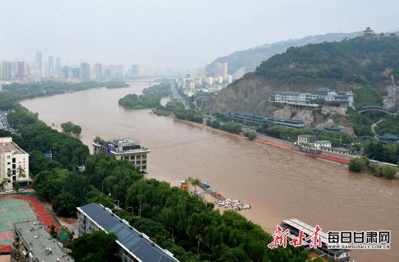 又涨了!茶摊歇业、快艇停运,黄河兰州段水位再升