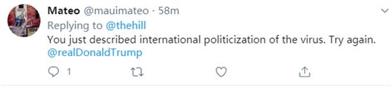 刚说完不要政治化,特朗普转口就骂中国!